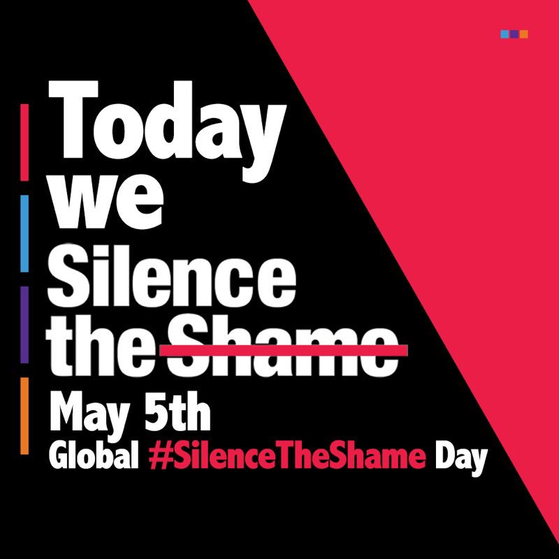Today is Global Silence the Shame day! Start the conversation around mental health! #silencetheshame https://t.co/nUp0S62mQ0