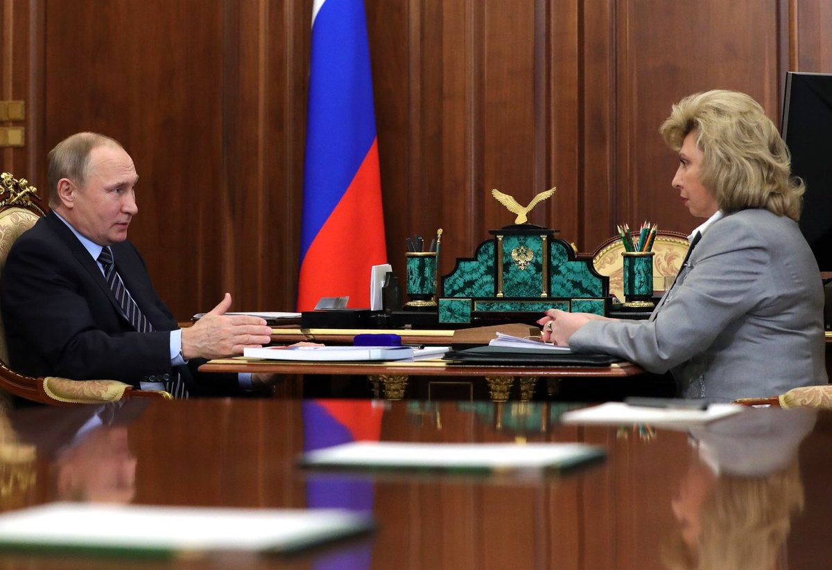 Russia's human rights commissioner Moskalkova talks to Putin about gays in Chechnya, suggests taking possible victims' statements in Moscow.