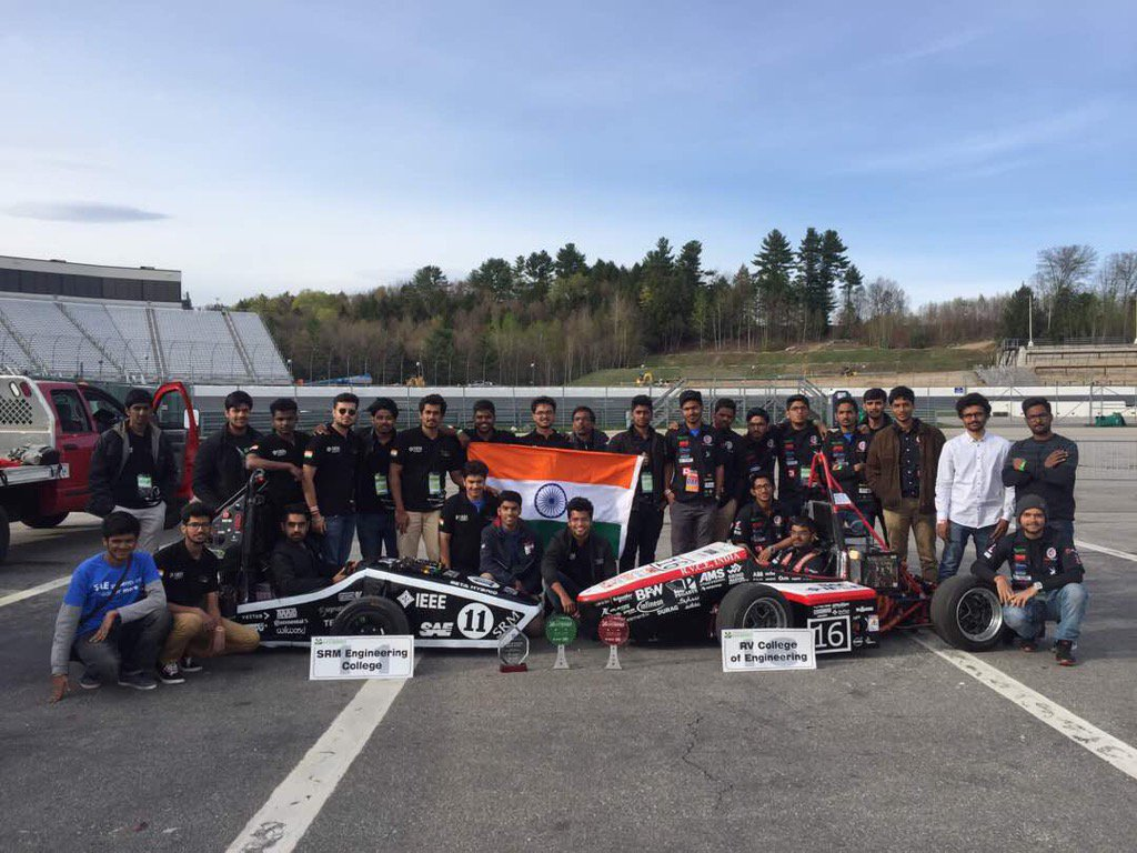 Congrats to RV College of Engineering Team for 2nd place in the hybrid competition at #FormulaHybrid17! Fantastic! https://t.co/xfb2TCsD3k