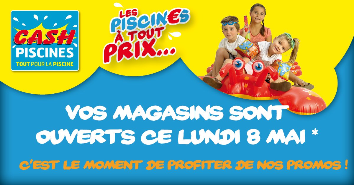 Cash piscines cashpiscines twitter for Cash piscine catalogue 2017
