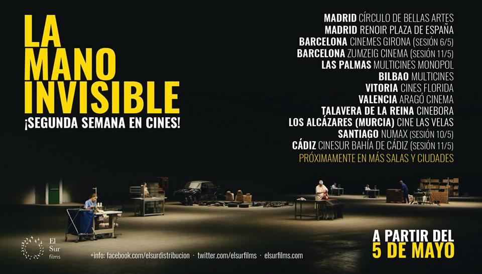 """El Sur Films on Twitter: """"@LaManoPeli película cooperativa, y financiada en crowfunding @verkami llega HOY a su 2ª semana en cines, en salas de toda España ..."""