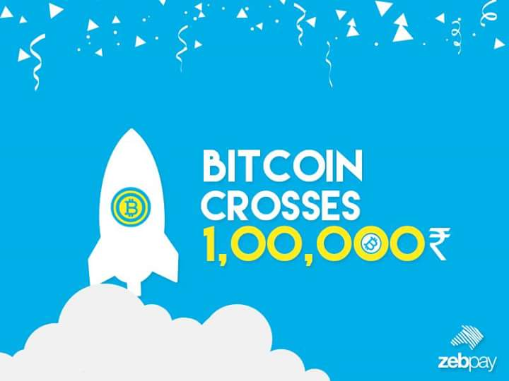 Bitcoin Price Crossed 1 Lakh INR Must Invest In Bitcoins Once Your Lifetime Bitcoinmakinghistory Bitcoinprice Bitcoinindia Tco LNMMKBYDm2