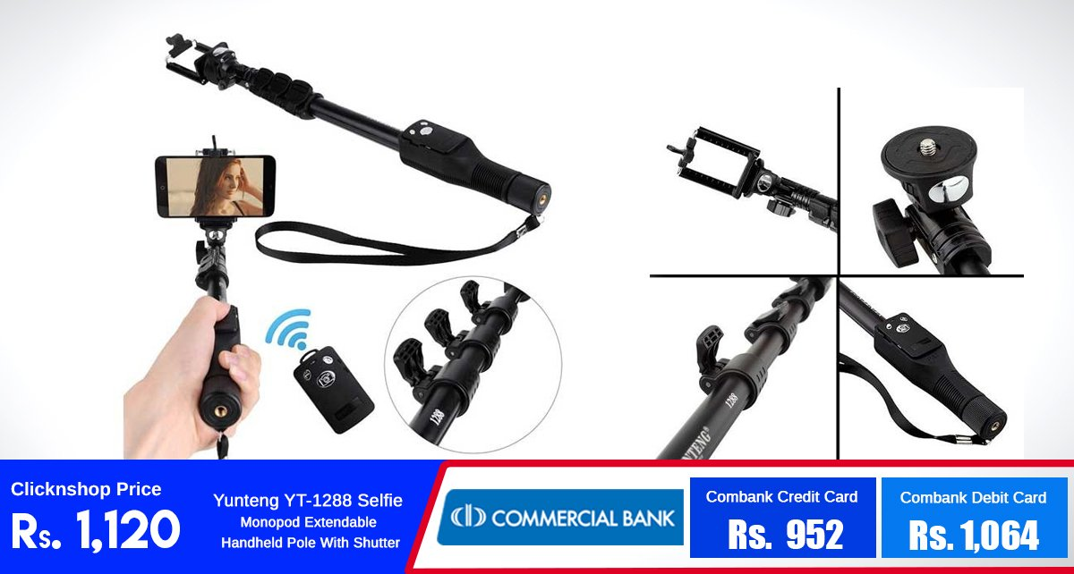 Capture all your special moments with this Yunteng Selfie Monopod for just Rs.1,120!  https://t.co/AejocqTcoS https://t.co/jY1DjB8YD8