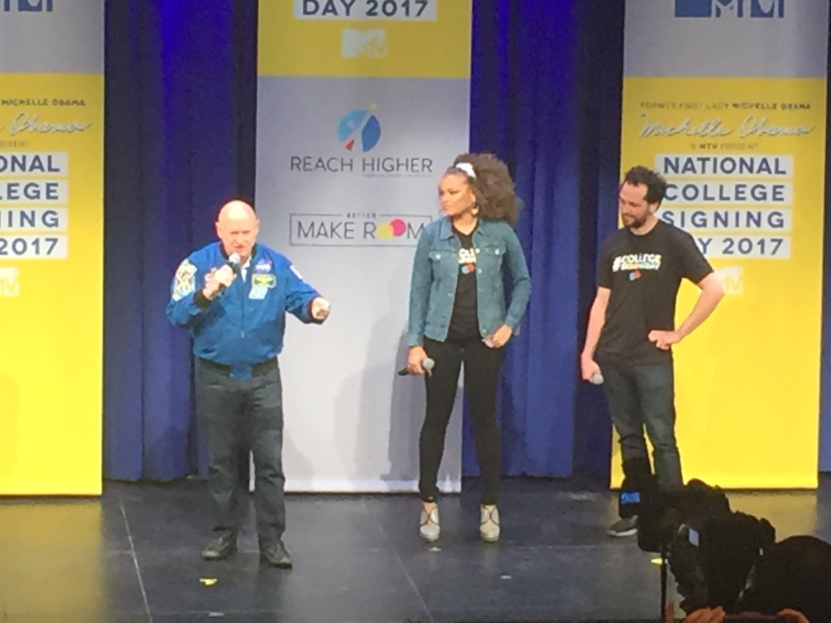 @ShuttleCDRKelly: education is the greatest gift you can give yourself. #Collegesigningday