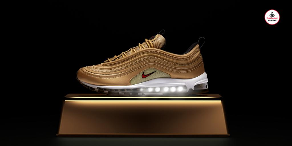 nike air max 97 gold footlocker