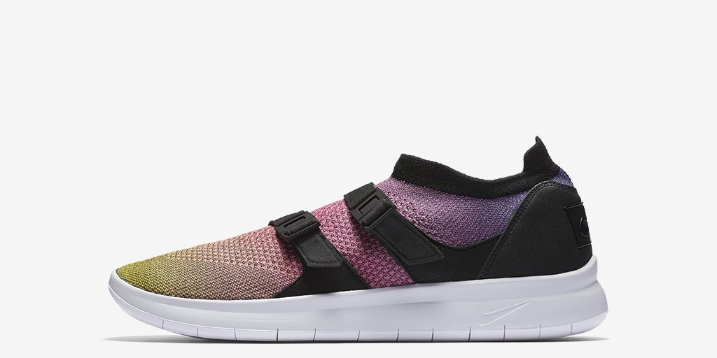 bba6f40f3ac32 revolutionary ride the air sock racer ultra flyknit premium in a radiant  rainbow fade shop