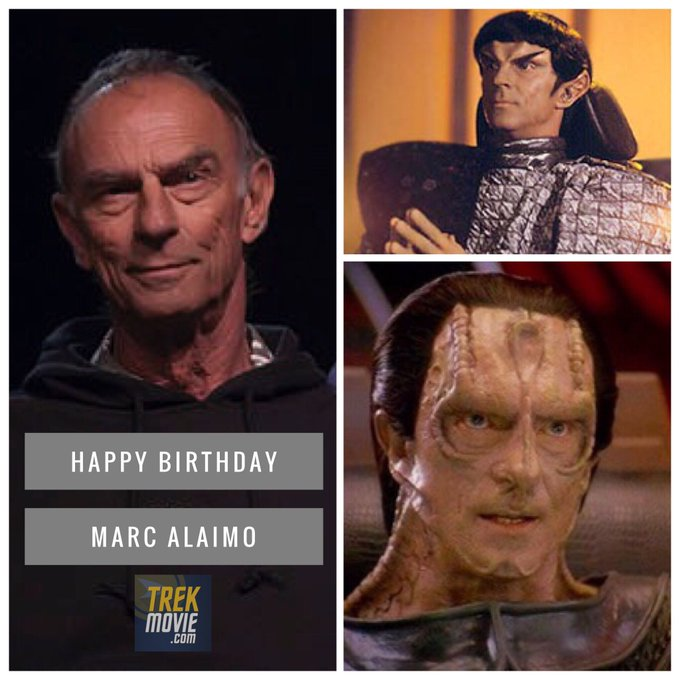 Happy birthday to first Romulan and first Cardassian Marc Alaimo.