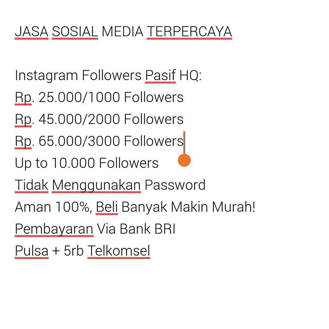 Windiyan Gita Samudra On Twitter Jasa Tambah Followers Instagram Like Pasif Cp Ig Followerssmurah Sms Wa 082310741054 Bbm D447dc69 Https Tco 1qwblfbysw