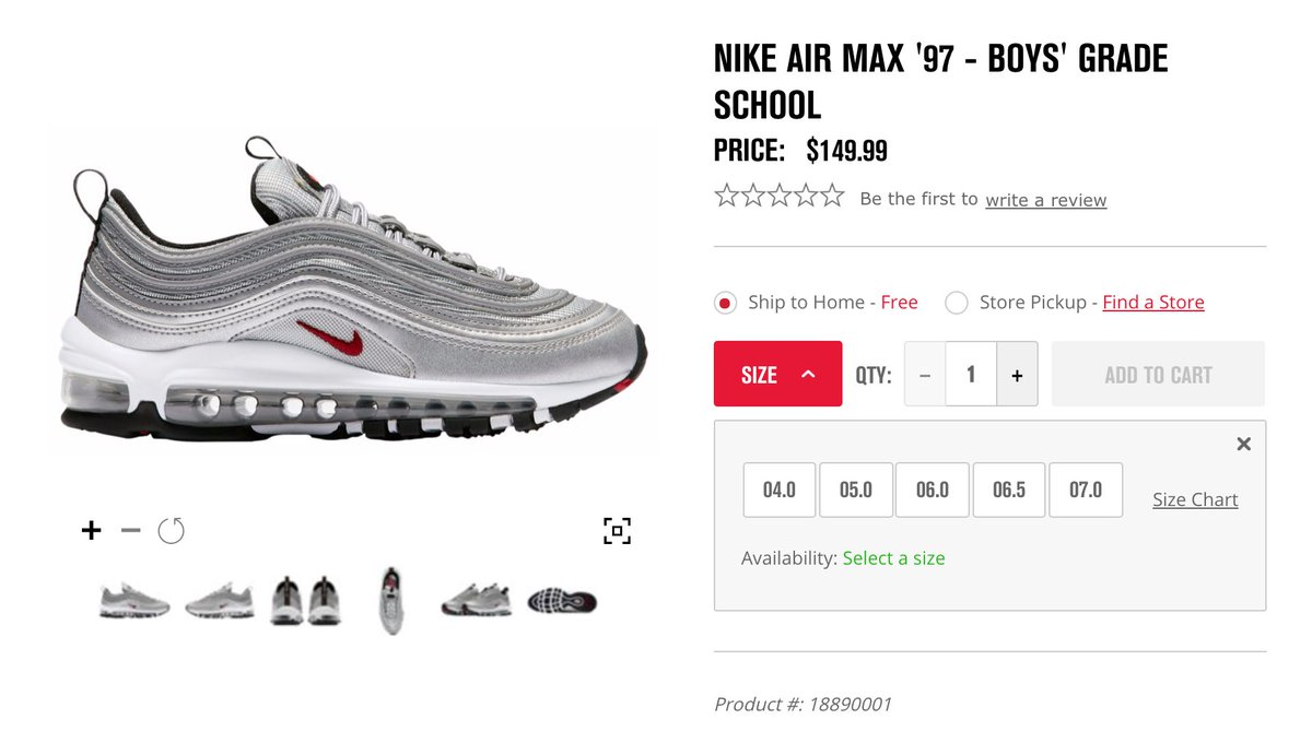 ad78529866 ... Nike Air Max 97 Silver Bullet To Return At Select Retailers This Month  Sneaker Shouts™ on Twitter: