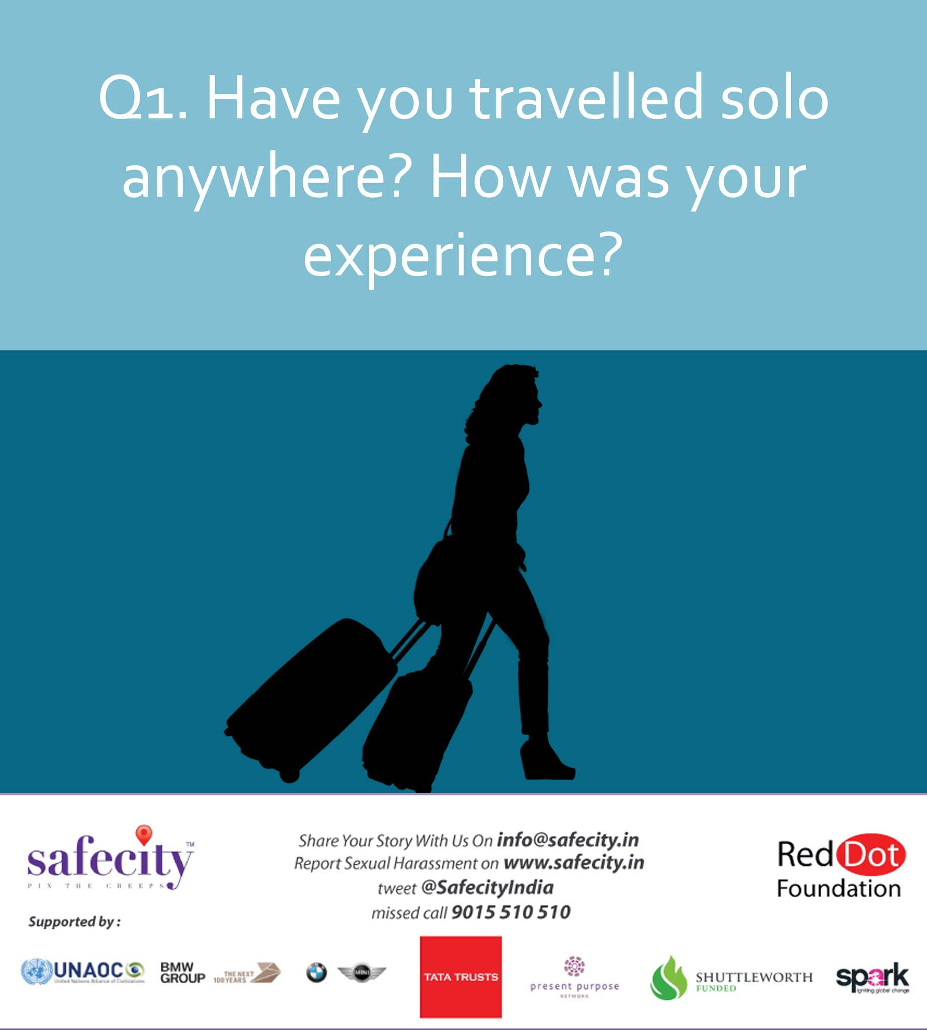 Here is the first question #solotravel #safety https://t.co/3yyjZy9dUA