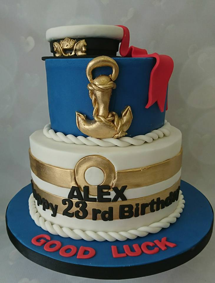 Admirable A Cake For You On Twitter Fantastic Navy Cake Happy Birthday Funny Birthday Cards Online Fluifree Goldxyz