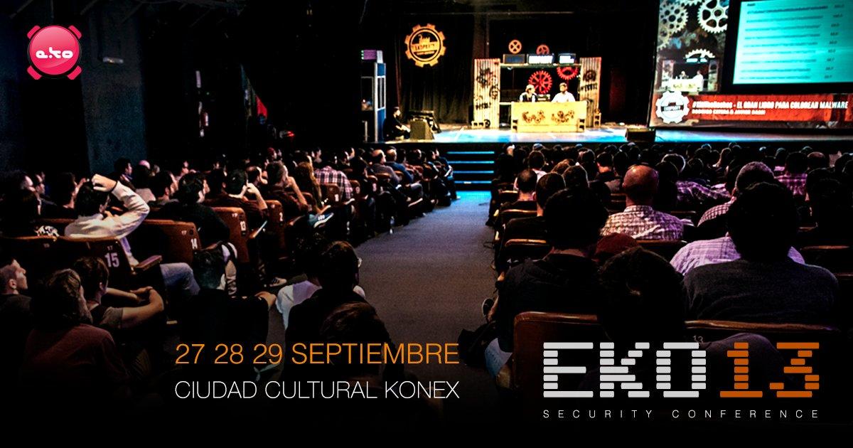 Estas listo para #eko13?! Te esperamos el 27-28-29 de Septiembre en Ciudad Cultural Konex! https://t.co/tFQAWroGwS
