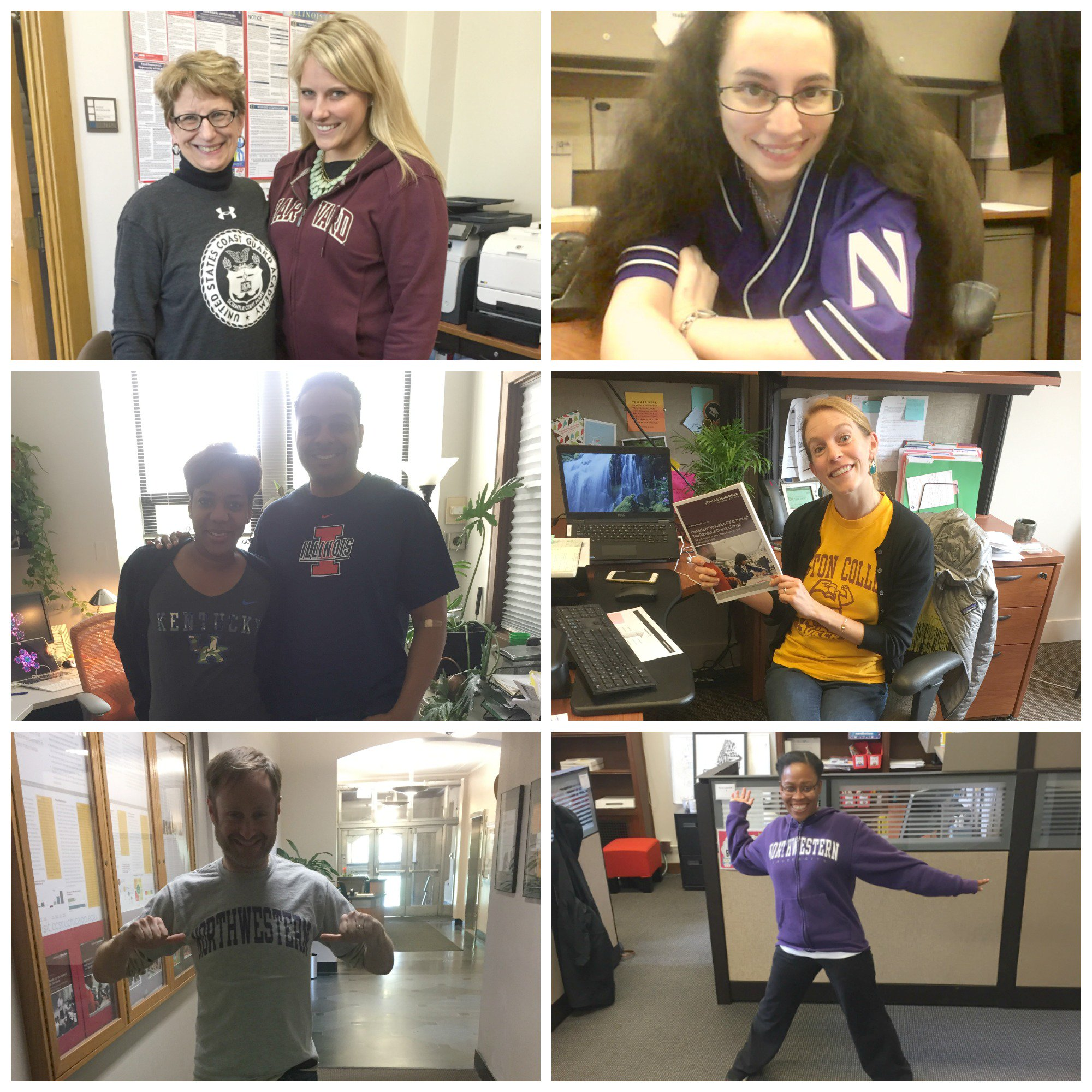 UEI staff sport college swag in support of students on #collegesigningday #toandthrough @reachhigher @BetterMakeRoom https://t.co/slIbuV7SNe