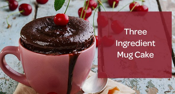 Three Ingredient Mug Cake Recipe