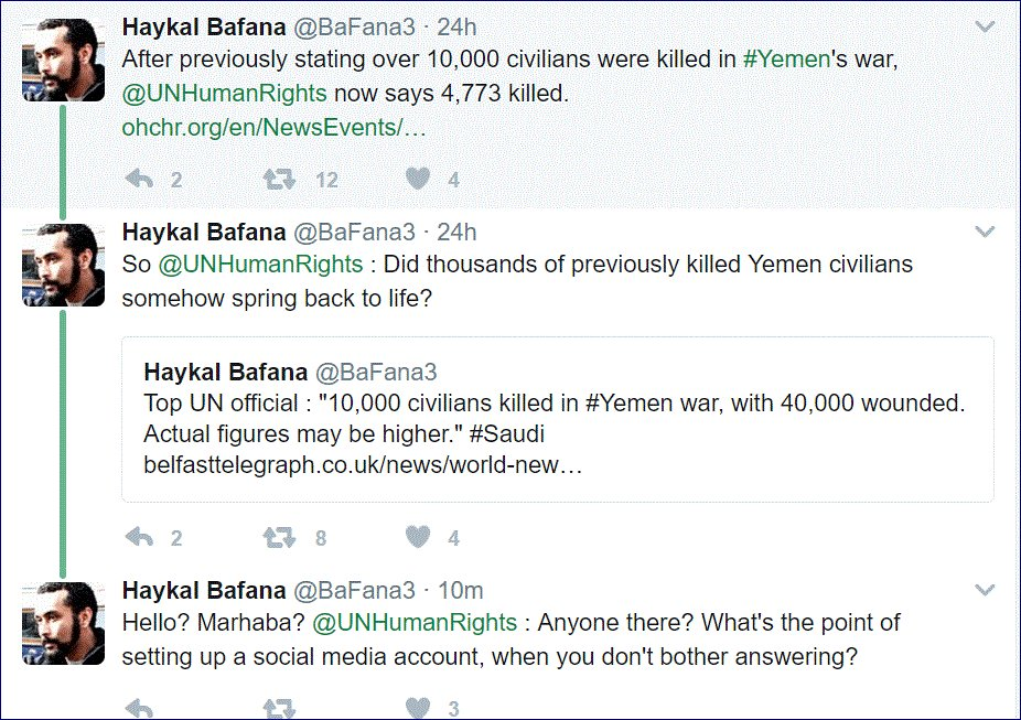 Haykal Bafana @BaFana3, a lawyer in Yemen, has a question: https://t.co/Iu3qhS3c4G