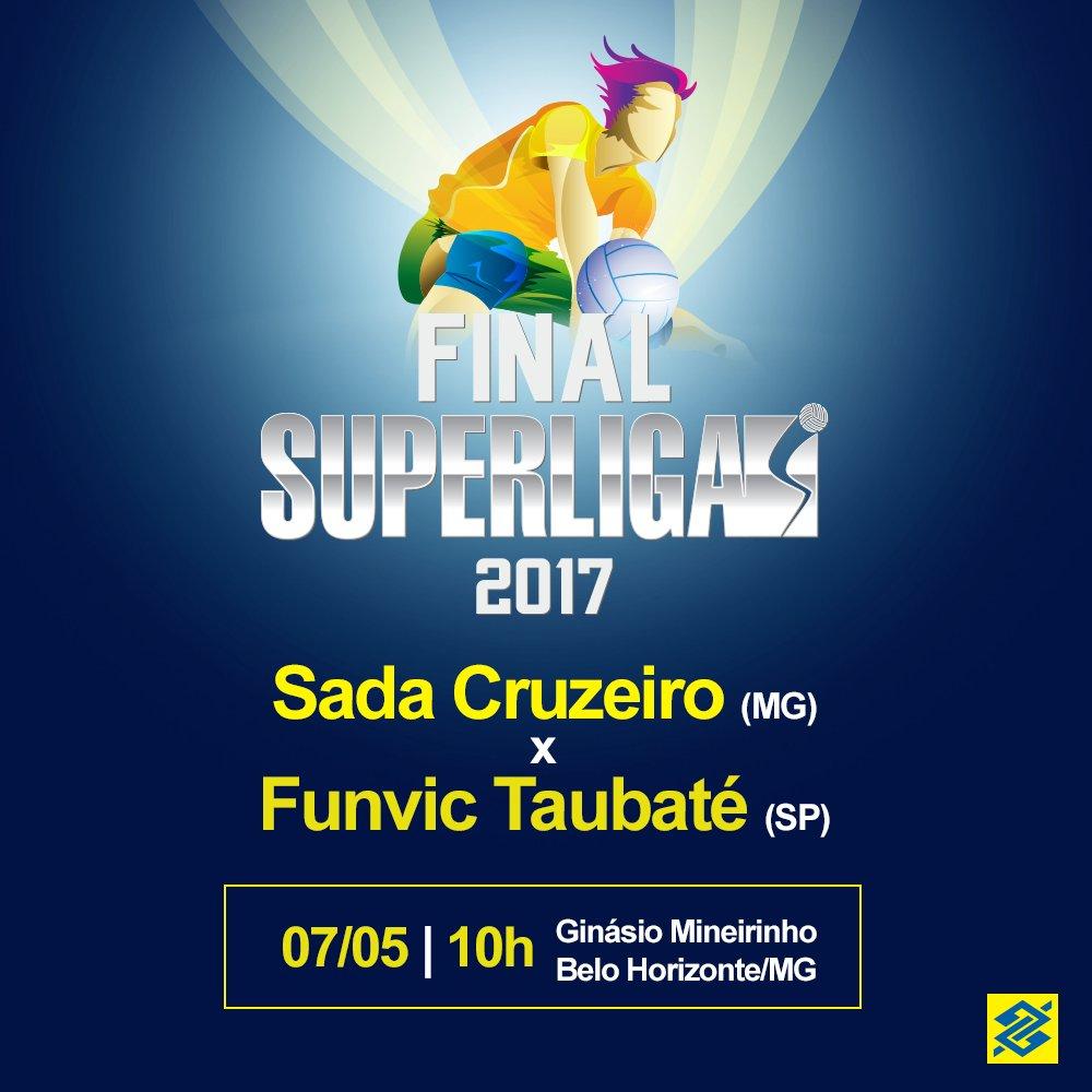 Domingo tem decisão da Superliga. A RedeGlobo e o SporTV transmitem a final. Diz pra gente, quem leva o título: Cruzeiro ou Taubaté? 🏐🇧🇷📺