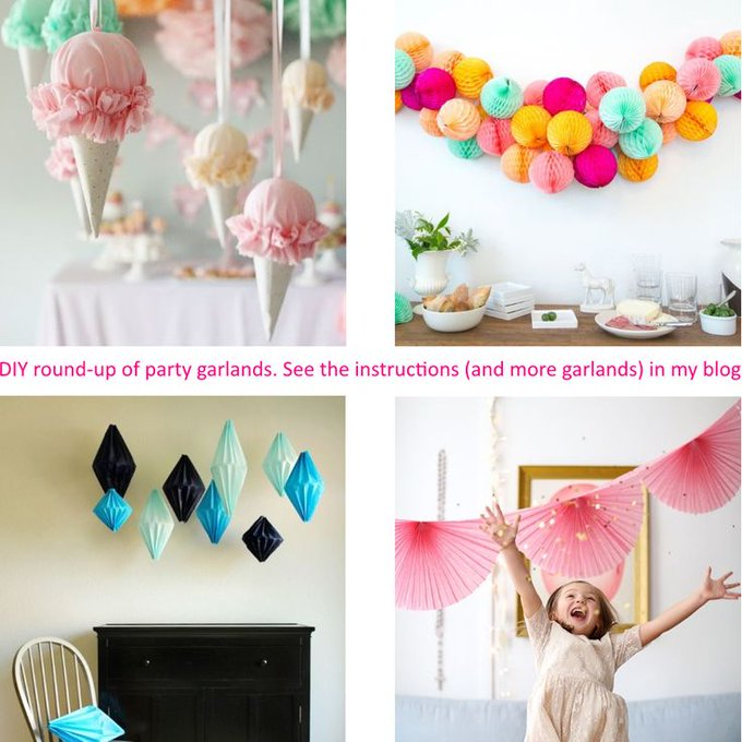 DIY. Round-up of the Party Garlands