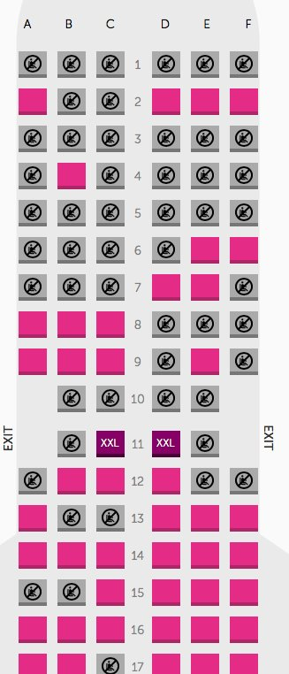 Esteban Marin On Twitter You Wow Air Airbus A321 Aircraft Seat Map