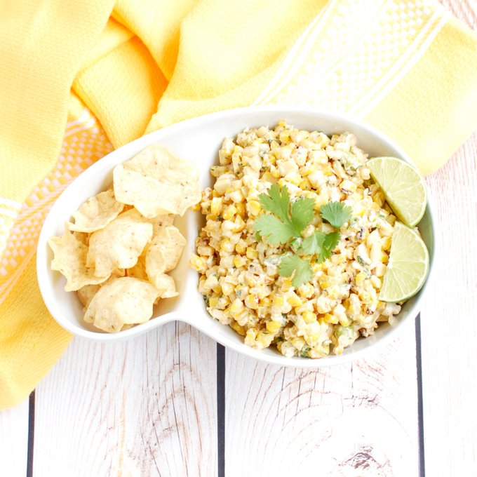 Lightened-Up Esquites {Mexican Street Corn Salad}