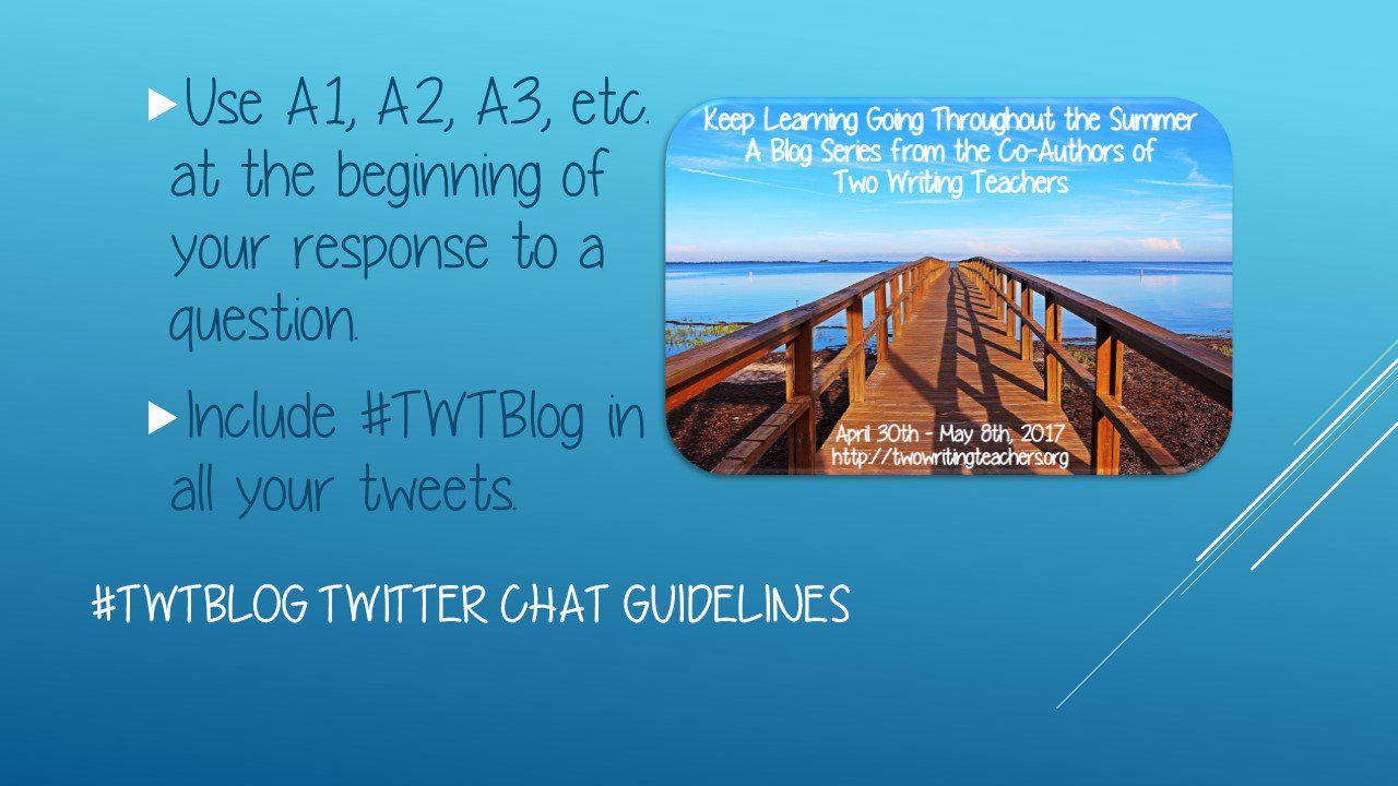 Here are the guidelines for tonight's chat. #TWTBlog https://t.co/TEQUmJL1gp