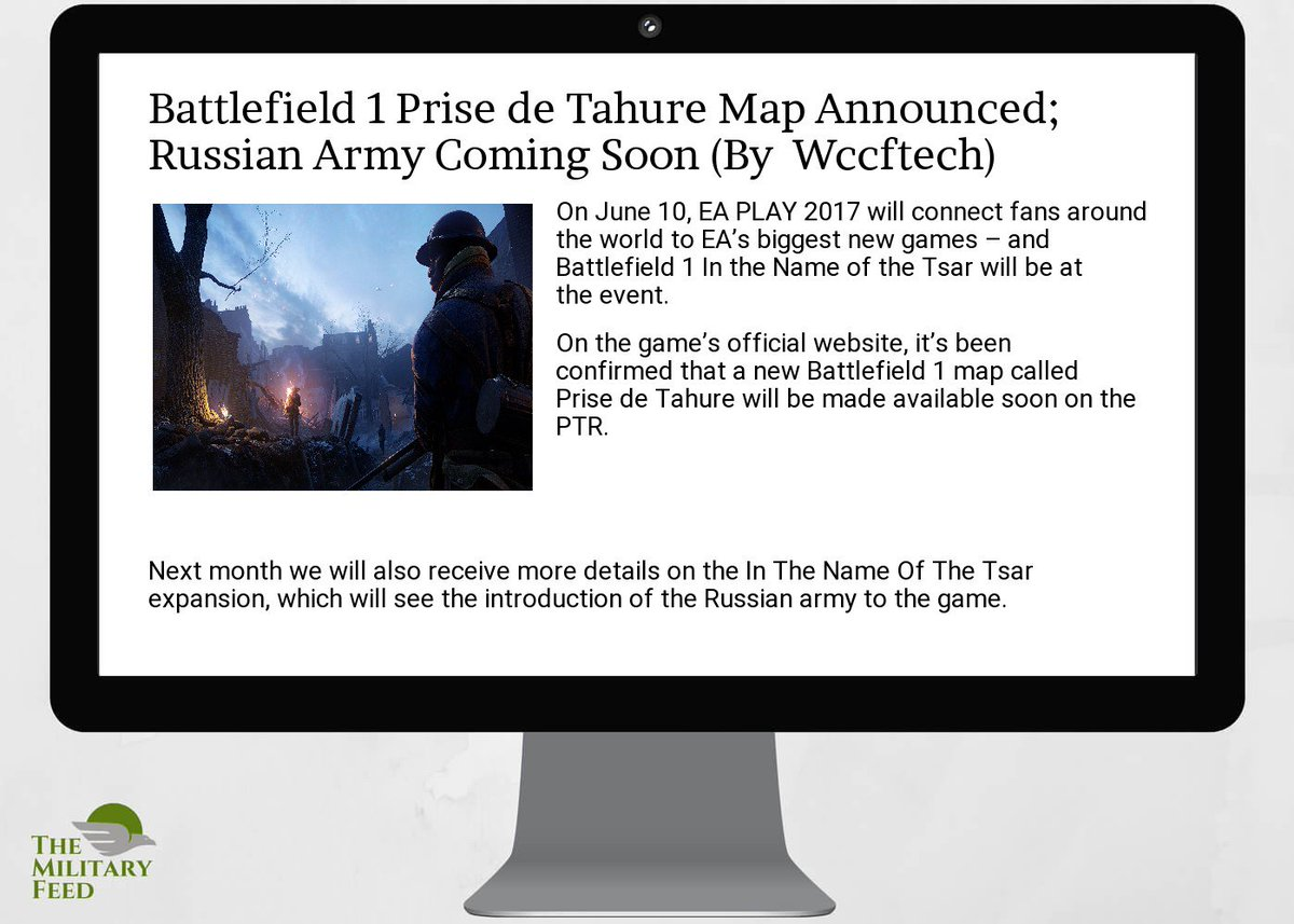 #Defense #News App:  http:// goo.gl/Ggu1EN  &nbsp;   ;  #battlefield 1  #prise de  #tahure  #map announced; russian  #army coming so<br>http://pic.twitter.com/LuT9MkVl23