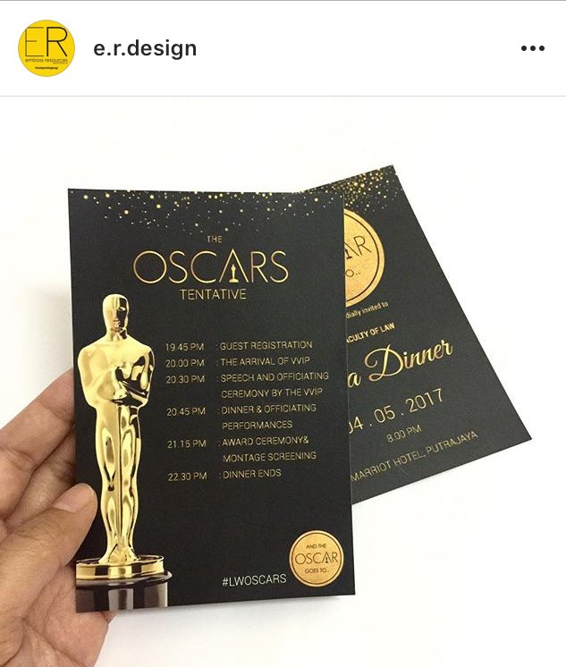 THE OSCARS on Twitter Special thanks to er design team for