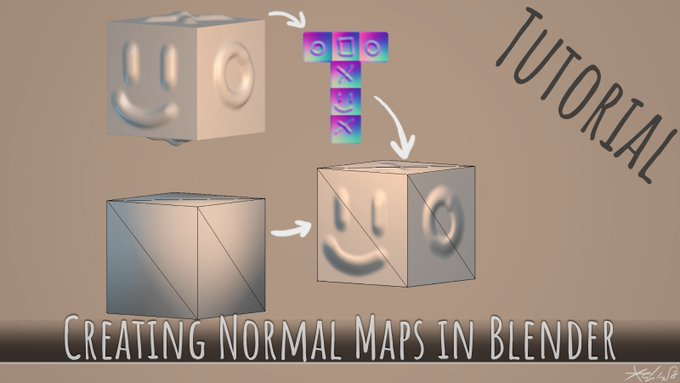 [Tutorial] Create Normal map in Blender