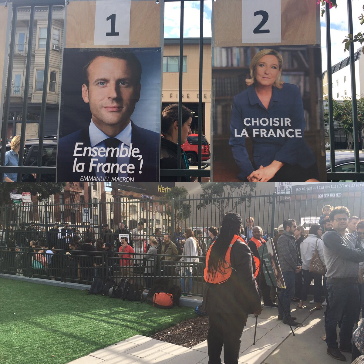 Early vote in The US to elect French next president. La France! #SanFrancisco #2emeTour #ElectionsPresidentielles2017 #Presidentielle2017<br>http://pic.twitter.com/VPYVM6sEi6