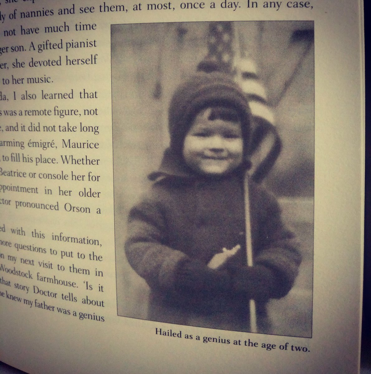 """Happy birthday #OrsonWelles born 6 May 1915 🎂 Picture from the book """"In my father's shadow """" by Chris #Welles Feder"""