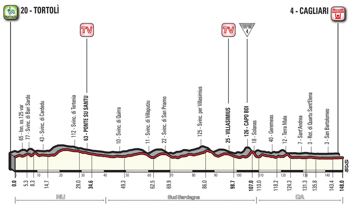 Giro d'Italia 2017 Diretta Tappa 3: Tortolì-Cagliari Streaming Rai TV LIVE