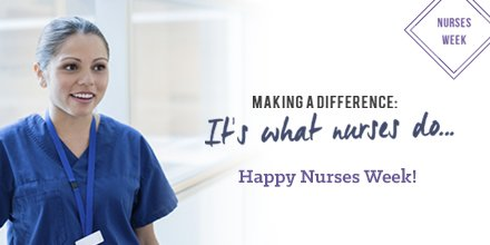 The very best week of the year kicks off today! Happy Nurses Week! #NursesWeek2017 https://t.co/99lFzIcHNY
