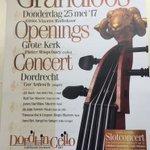 Dordt in Cello is trots op het mooie openingsconcert met @VlaamsRadioKoor @pieterwispelwey en @CorArdesch in de @grote_kerk