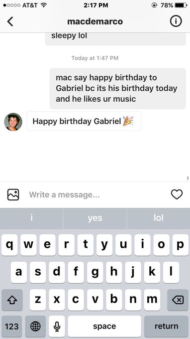 THAT TIME MAC DEMARCO SAID HAPPY BIRTHDAY TO ME