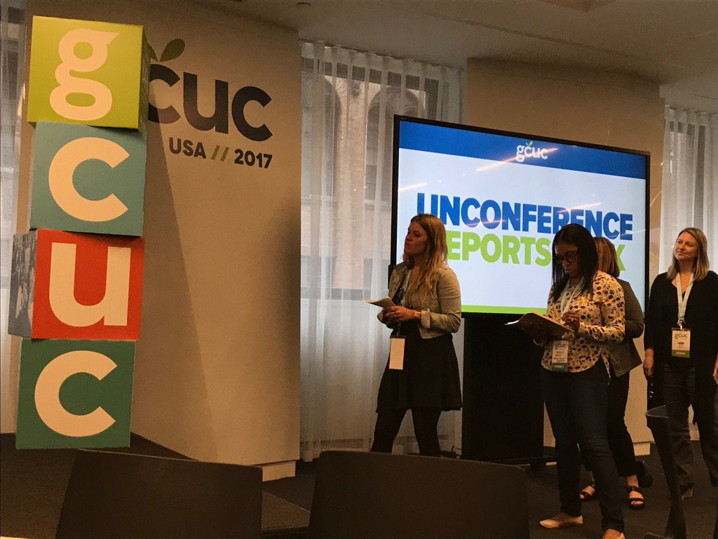 The Unconference reports back! #GCUC https://t.co/QA9KXumJpY
