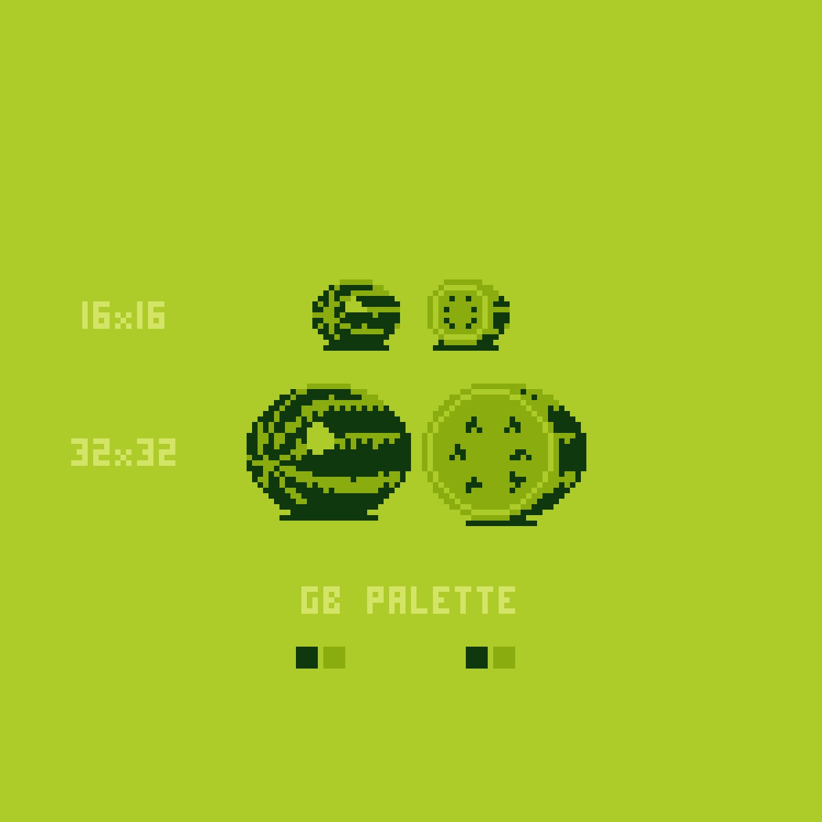 Gameboy color palettes - Jeremy Brown On Twitter Watermelon Pixelart Color Palette And Resolution Tests Nes Gb Gameboy Gameboycolor Pico8 Https T Co Izoymclopc