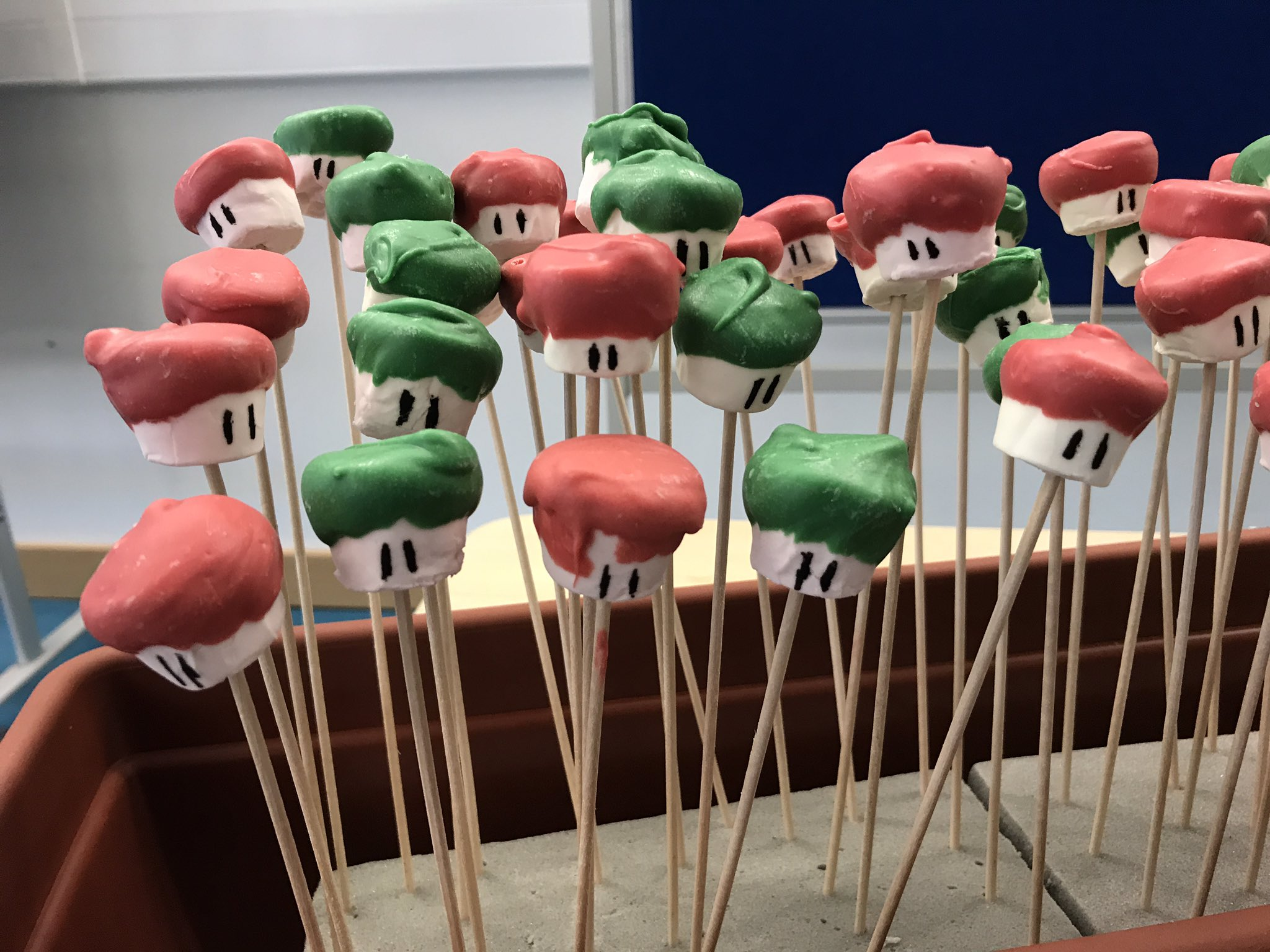 Have you seen the Mario marshmallow toads? #gamespk #AbertayGames20 #yum https://t.co/JJZwE2o7oX