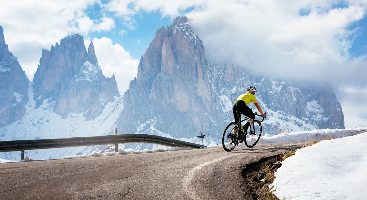 Image result for cycling dolomites photography