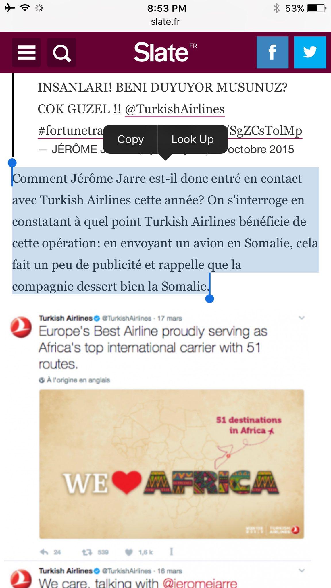32. Pire que ça l'article insinue meme qu'il s'agirait en fait d'une campagne publicitaire pour Turkish Airlines https://t.co/B6FnsdpHaK