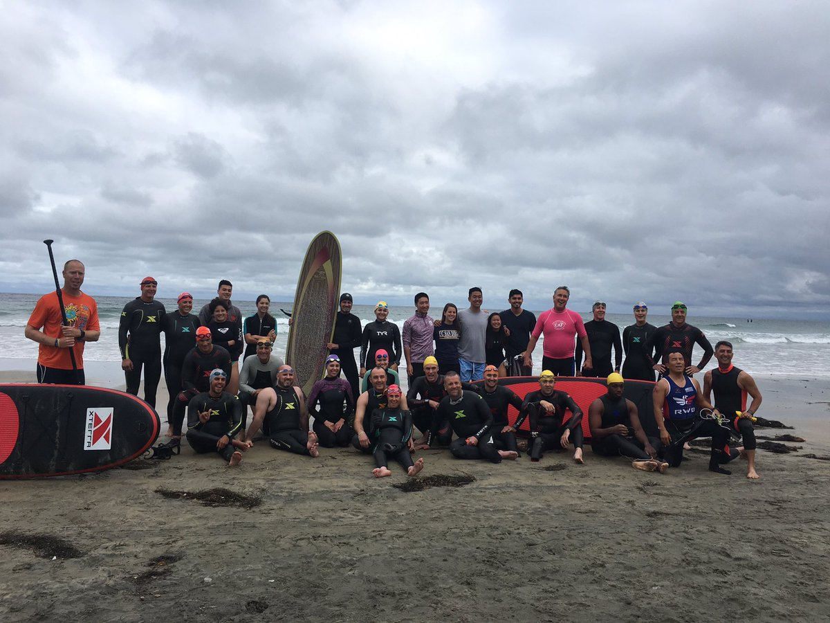 Huge thanks to #TeamCAF partner @XTERRAWETSUITS for outfitting our Paratriathlon Camp Athletes for the open water swim training today! <br>http://pic.twitter.com/K50ED1PUwr – à La Jolla Shores Beach