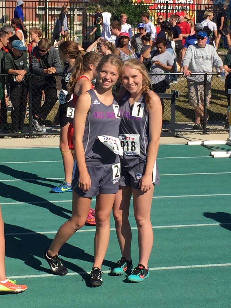 Jr Lily McKay and Soph Sara Phy finish 7th and 8th in the TAPPS 2A State 800. @AllSaintsPride @TAPPSbiz #asespride