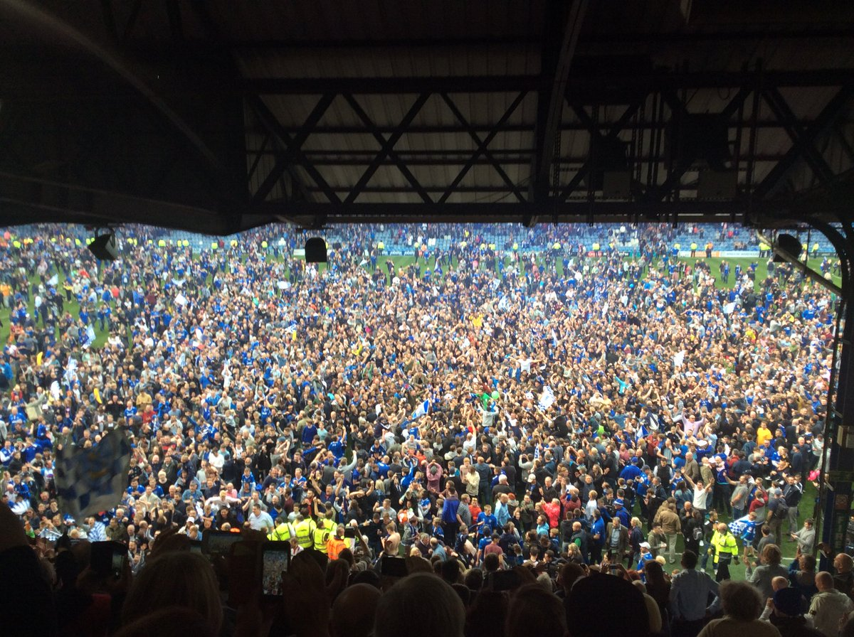 Incredible scenes at Fratton Park