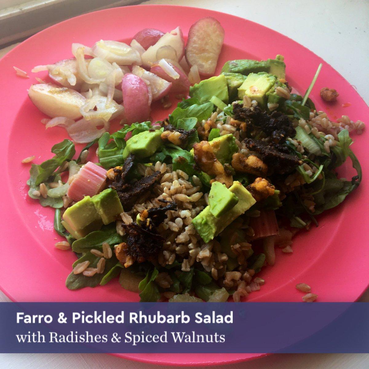 Blue apron lemongrass burger - Farro Pickled Rhubarb Salad With Radishes Spiced Walnuts Blueapron Http Pic Twitter Com Jgbx6fjiri