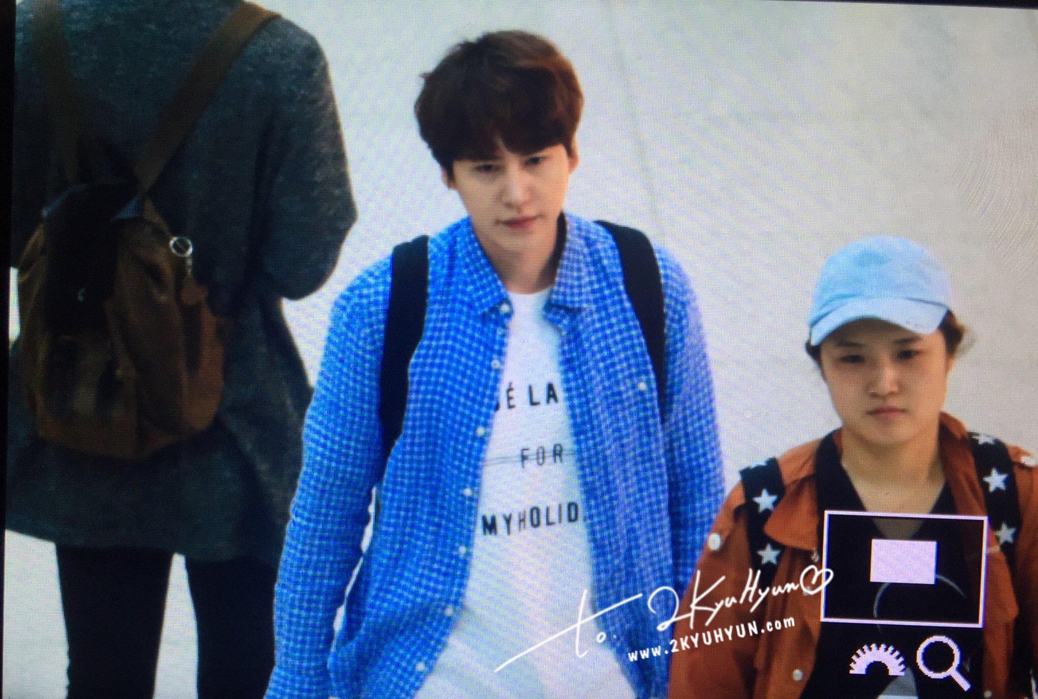 170507 신서유기 인천공항 출국 :) #Kyuhyun at ICN Airport ❤ (6) cr. @2kyuhyun https://t.co/MDFyAN71qM
