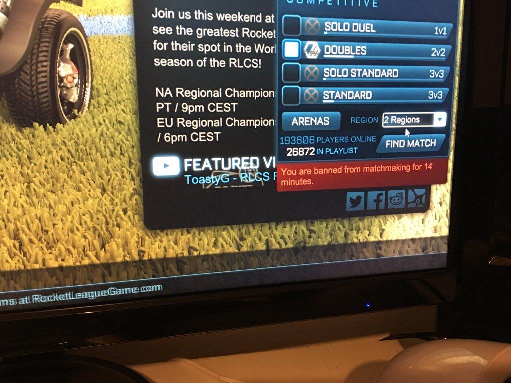 banned matchmaking rocket league