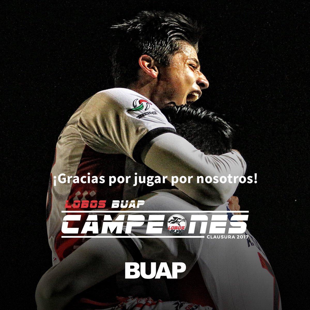 Felicidades @LobosBuapMX Campeones de la Liga de @AscensoMX 2017 #SomosUnSoloEquipo https://t.co/O4MG66WVl4