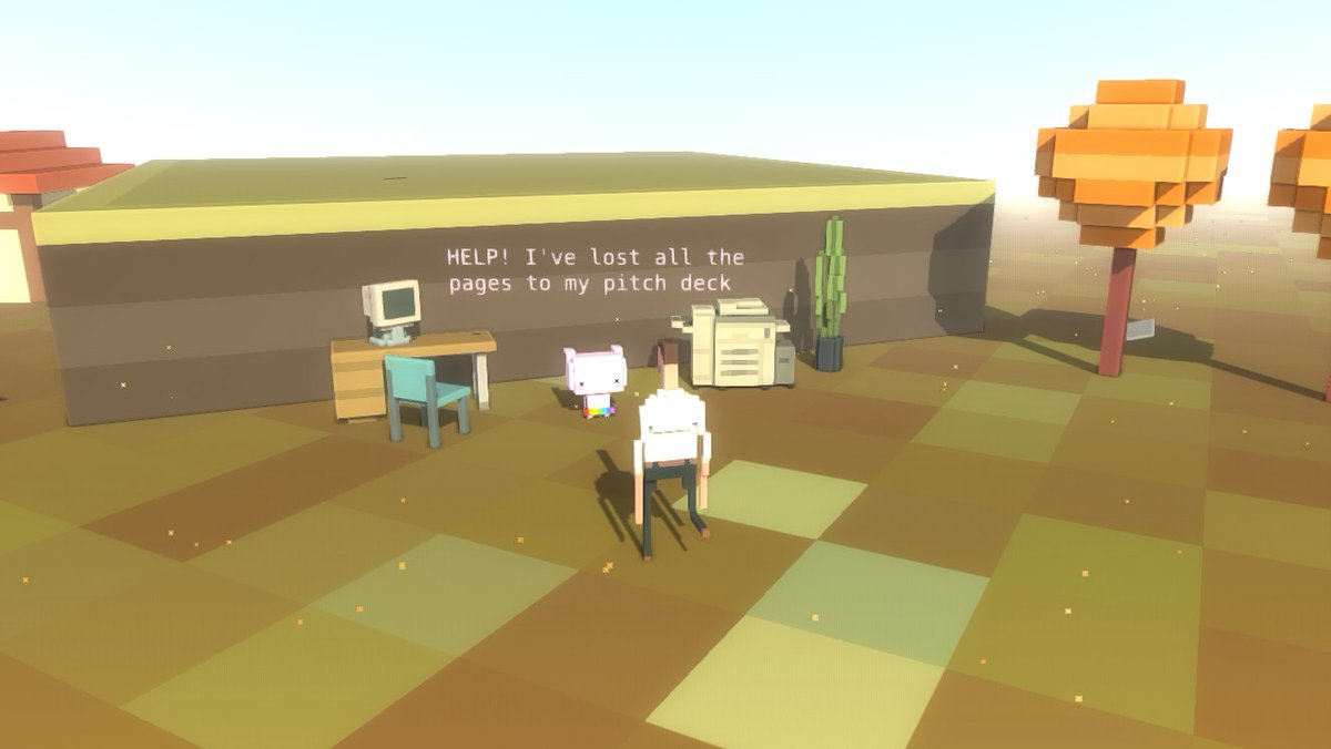 In Silicon Valley, even the rabbits try to pitch you their ideas! #elevatorpitch #screenshotsaturday #indiedev #gamedev #hashtag