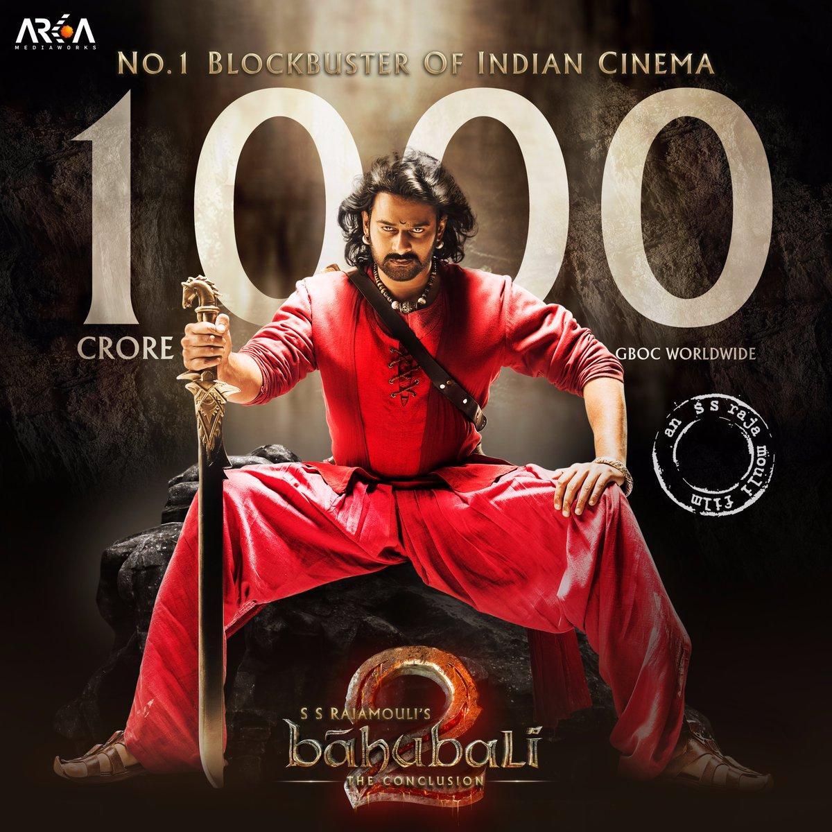 100 करोड़ भूल जाइये, फिल्म 'बाहुबली 2' ने दुनियाभर में कमा लिए हैं 1000 करोड़ रुपये !