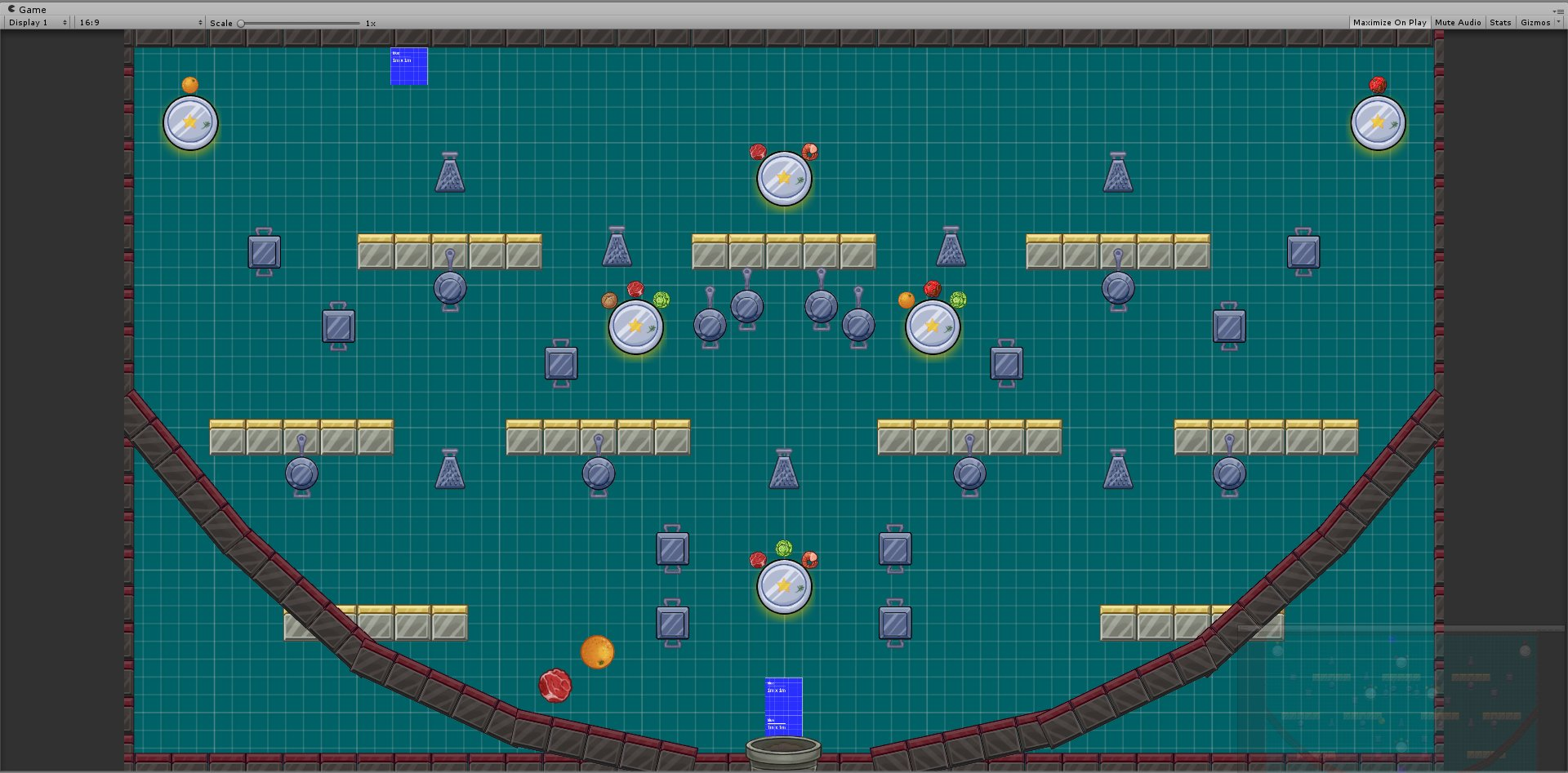 First level is designed. Just plugin in art and UI. Don't let the food go to waste! #tojam #TOJam12 https://t.co/JNIwaUjdnt
