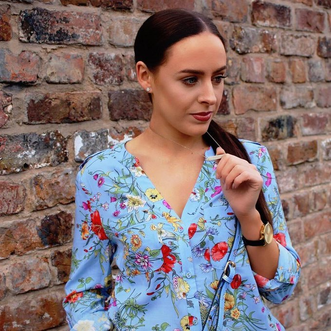 SPRING BOTANICAL WRAP SHIRT