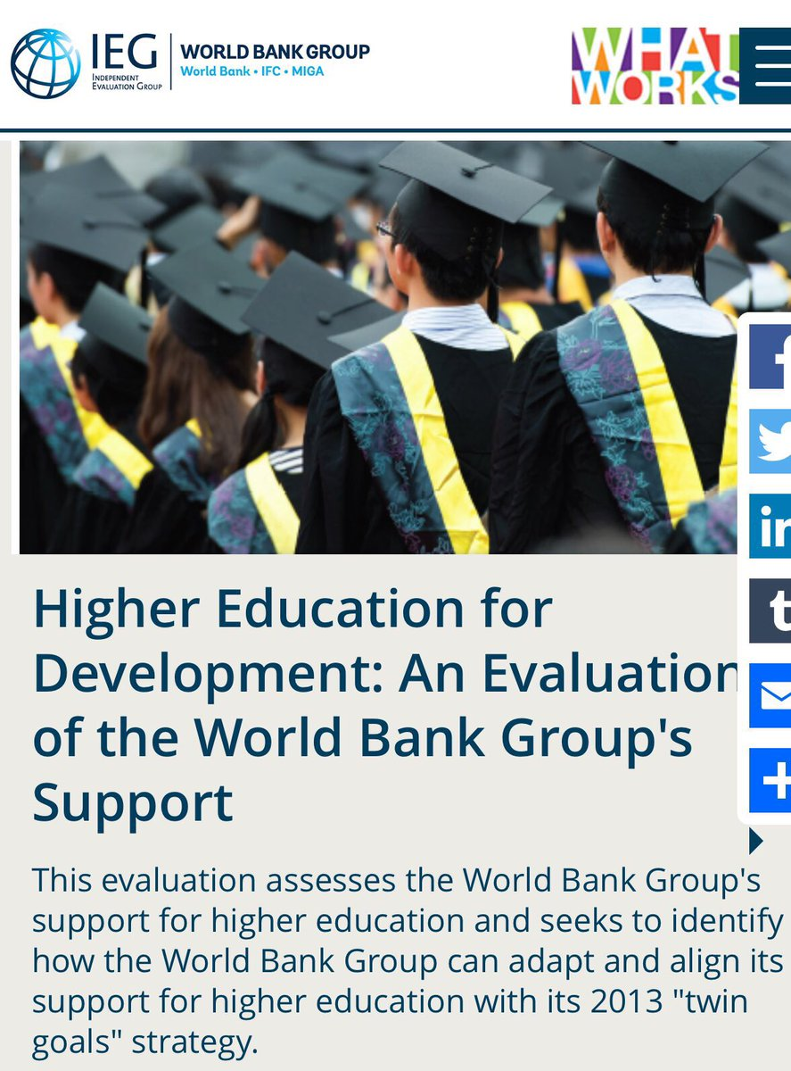 The world bank sl a bangkok - Here A Report From Worldbank S Independent Evaluation Group On Work Done In Highereducation